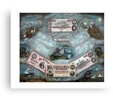 The Confederate Note Memorial Canvas Print