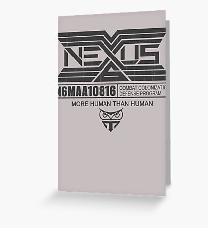 Tyrell Corporation NEXUS Greeting Card