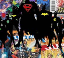 Justice League Silhouette Sticker