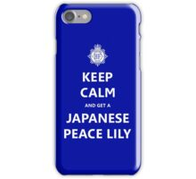 Keep Calm and get a Japanese Peace Lily iPhone Case/Skin