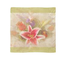 """""""A Gentle Wish"""" Scarf~Green Textured Borders Scarf"""