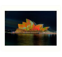 Psychedelic Dreaming - Vivid Sydney Festival - The HDR Experience Art Print
