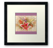 """A Gentle Wish"" Scarf~Purple Borders Framed Print"