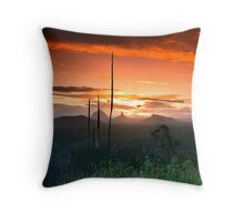 Glasshouse Mountains Sunset Throw Pillow