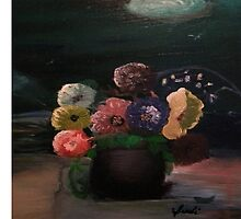 Flowers At Midnight by sbharrison