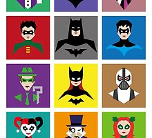 Batman Gotham Heroes & Villains by nei1b