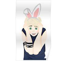 """Punk Rock"" Bunny Boy Poster"