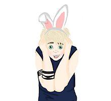 """Punk Rock"" Bunny Boy Photographic Print"