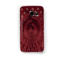 Red, Black & White Brush Samsung Galaxy Case/Skin