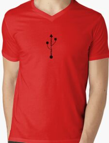 USB Mens V-Neck T-Shirt