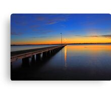Como Jetty Sunset  Canvas Print