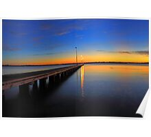 Como Jetty Sunset  Poster