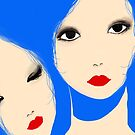 Faces in blue sea by Catherine Cho