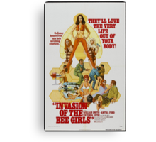Invasion Of The Bee Girls (Red) Canvas Print