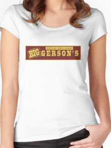 BIGGERSON's Women's Fitted Scoop T-Shirt