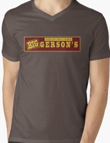 BIGGERSON's Mens V-Neck T-Shirt