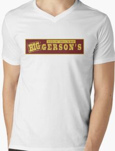 BIGGERSON's Mens V-Neck T-Shirt