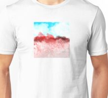 Blue Sky and Red Landscape Unisex T-Shirt