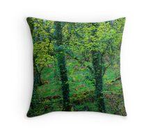 Painterly trees Throw Pillow