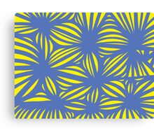 Corbet Abstract Expression Yellow Blue Canvas Print