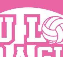 Women's volleyball T-shirt Sticker