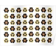 Recycle Flower Pattern (on white) Poster