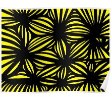Hibler Abstract Expression Yellow Black Poster