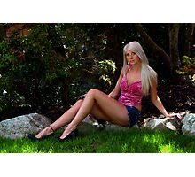 Pretty Girl In the Garden Photographic Print