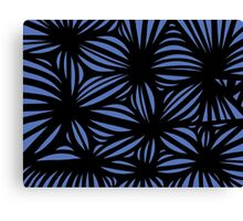 Sharper Abstract Expression Blue Black Canvas Print