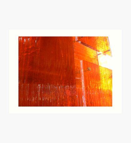 Orangey shine Art Print