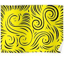 Strasburger Abstract Expression Yellow Black Poster