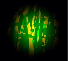 Green planet abstract by ackelly4
