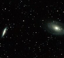 M81 M82 galaxies in Ursa Major by Sylvain Girard