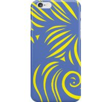 Vilar Abstract Expression Yellow Blue iPhone Case/Skin