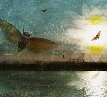 River Blue Beetle by Elizabeth Burton