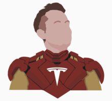 Elon Musk - Real Life Iron man - Minimalistic Print T-Shirt