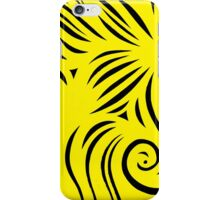 Lourentzos Abstract Expression Yellow Black iPhone Case/Skin