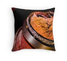 Rosy Rings Throw Pillow