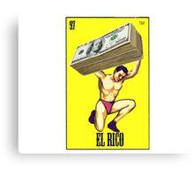 El Rico Loterìa Loteria  Canvas Print