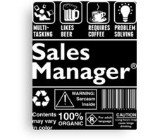 Sales Manager Canvas Print