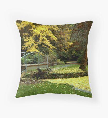 Alfred Nicholas Gardens-Autumn Throw Pillow