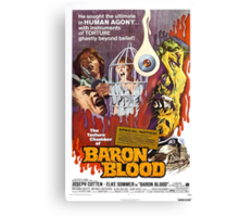 Baron Blood (Red) Canvas Print