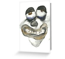 Chewing Glass Greeting Card