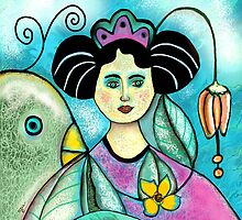 LADY WITH BIRD by Frances Perea