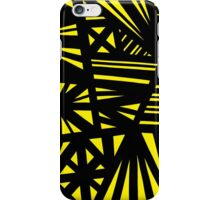 Cawon Abstract Expression Yellow Black iPhone Case/Skin