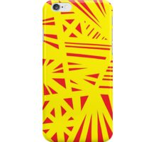 Battistini Abstract Expression Yellow Red iPhone Case/Skin
