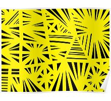 Wolny Abstract Expression Yellow Black Poster