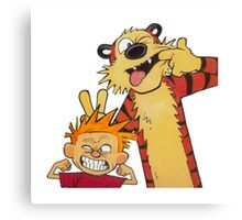 Calvin and Hobbes Duo Canvas Print