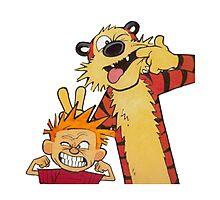 Calvin and Hobbes Duo Photographic Print