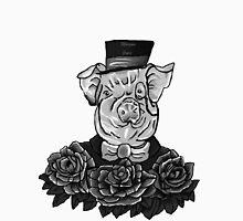 Greyscale Sir Tattoo - Digital Art by Tumi, Art by Brian Fusaro Men's Baseball ¾ T-Shirt